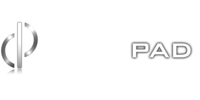 DemoPad Logo - Transparent Background with Light Text