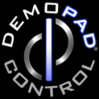 DemoPad Logo - Stamp on Black Background